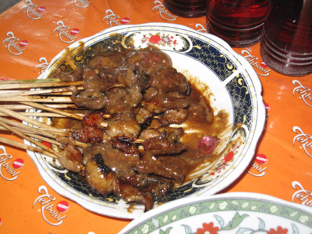 Goat Sate with Peanut Sauce