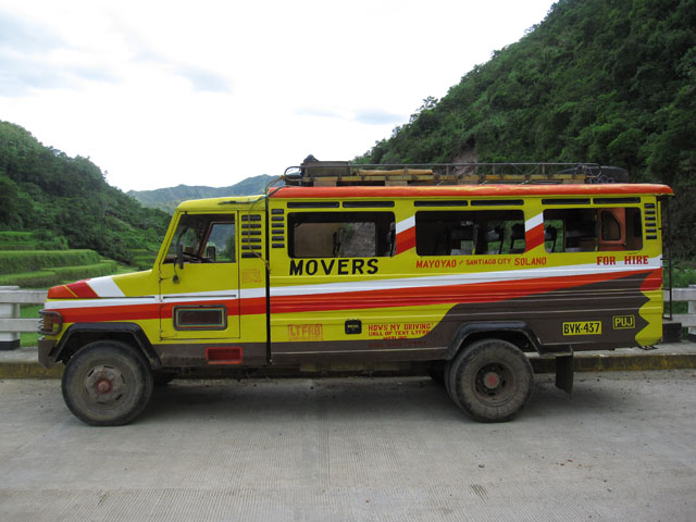 The vehicle that took us to Mayoyao