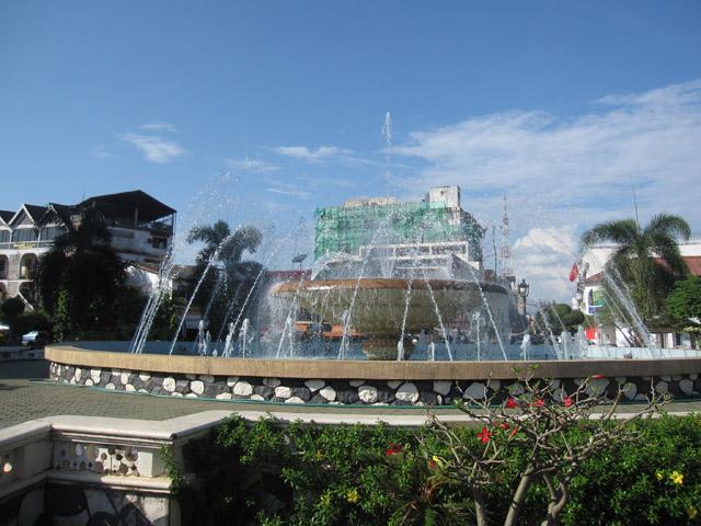 Vientiane fountain, Laos