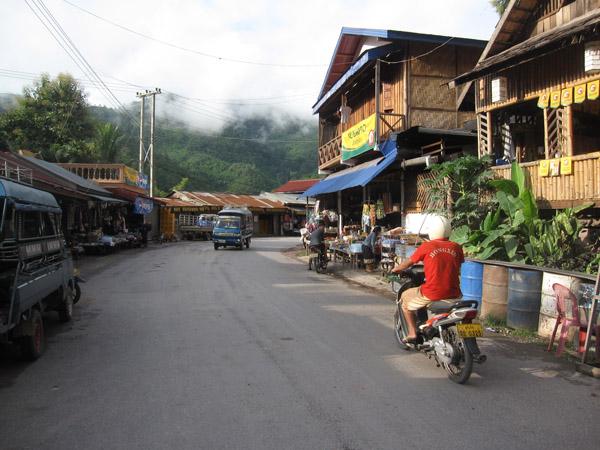 Small town of Pak Beng