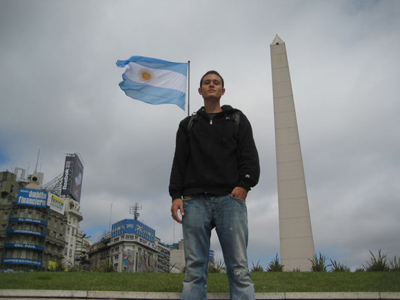 Mark in Buenos Aires, Argentina