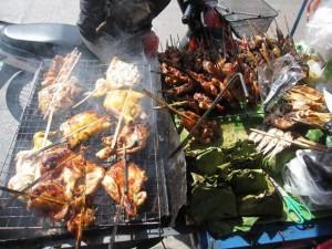 Thai grilled chicken cart
