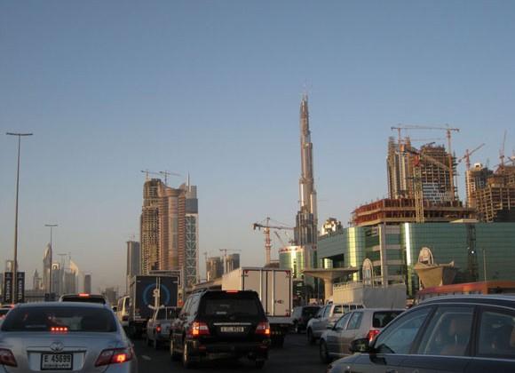 Construction skyline in Dubai