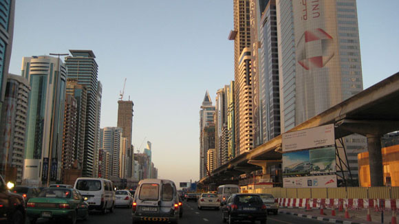 Sheikh Zayed Road traffic in Dubai