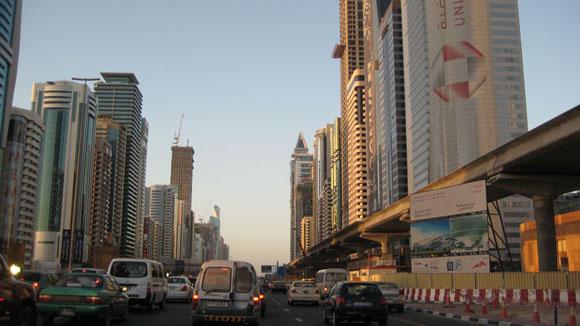 Sheikh Zayed Road traffic in Dubai