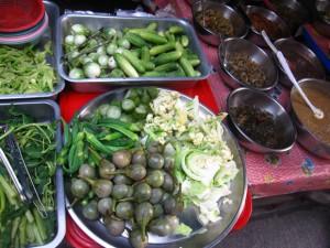 thai vegetables and shrimp paste sauce