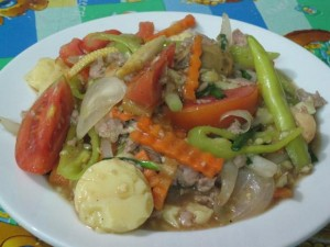 thai tofu with vegetables