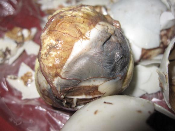 Balut Egg Fetus in Manila