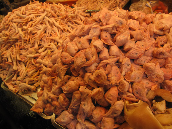 Market Manila Chicken Heads