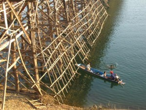 wooden bridge sangkhlaburi thailand