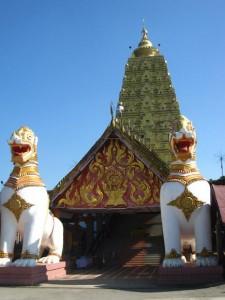 wat mon temple sangkhlaburi thailand