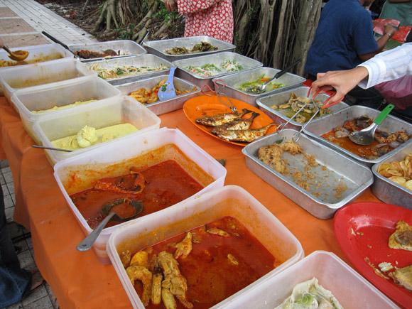 Nasi Berlauk Malaysian Food