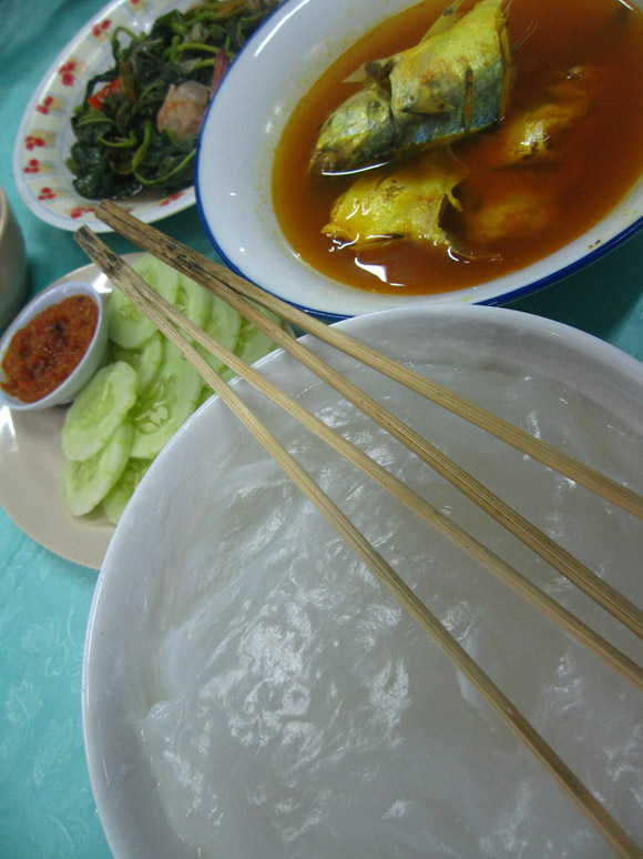 ambuyat meal The Stickiest Business in Brunei