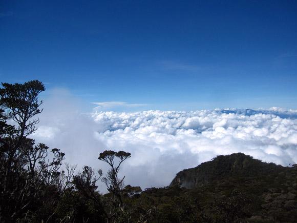 mount kinabalu clouds hovering