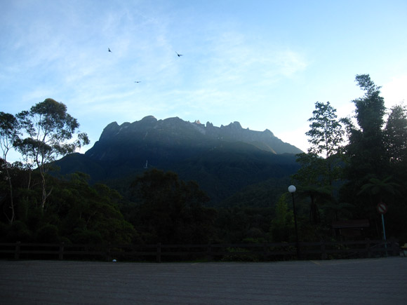 mount kinabalu at sunrise