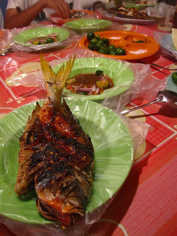 grilled fish in kota kinabalu