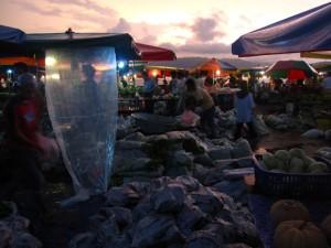 fresh market in borneo