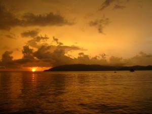 kota kinabalu borneo sunset