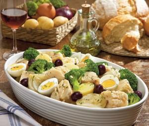 Portuguese bacalhau dish