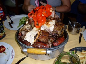 Uruguayan asado parilla