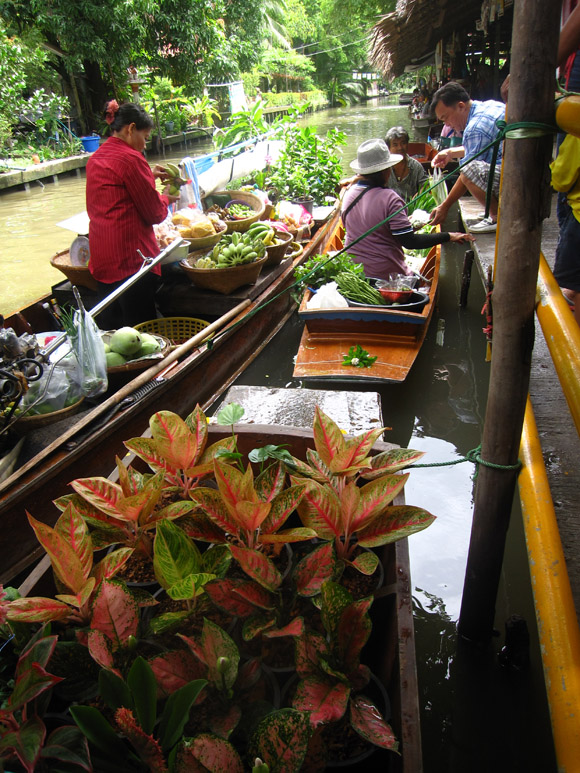 boat market thailand Khlong Lat Mayom Floating Market