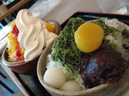 kakigori japanese ice dessert