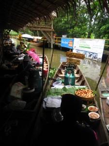 lat mayom floating market in thailand
