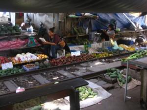 Thai vegetable vendors