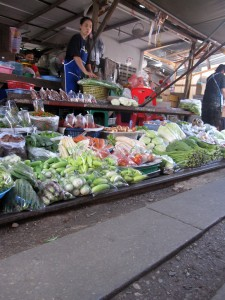 Vegetables at Maeklong Market