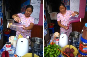 nang loeng fruit shake stall