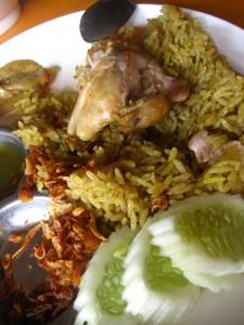 thai chicken and rice biryani