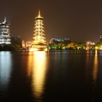 Photo Favorite: Sun and Moon Pagodas at Night in Guilin, China