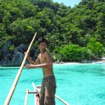 Photo Favorite: Steering the Boat on the Turquoise Waters of Palawan Island