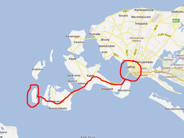 Pilgrimage to Nainativu Island, Sri Lanka