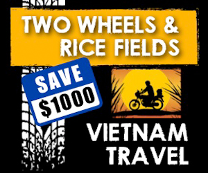300x250 Two Wheels Banner Review: Touring Vietnam on a Motorcycle (Two Wheels and Rice Fields)