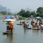 PHOTO: Leisure Floating on a Bamboo Raft in Yangshuo, China