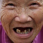 Photo: A Very Smiling (and Toothless) Old Chinese Lady