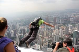 BASE Jumping in Kuala Lumpur, Malaysia