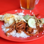 nasi lemak 150x150 VIDEO: Malaysian Nasi Campur (Mixed Curry on Rice)