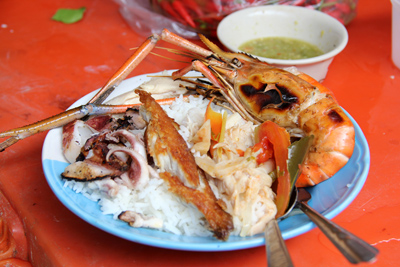 prawns small My Top 11 Mouthwatering Bites of 2012
