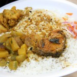 Catfish Curry, Vegetables, and Rice on Kolkata's Camac Street