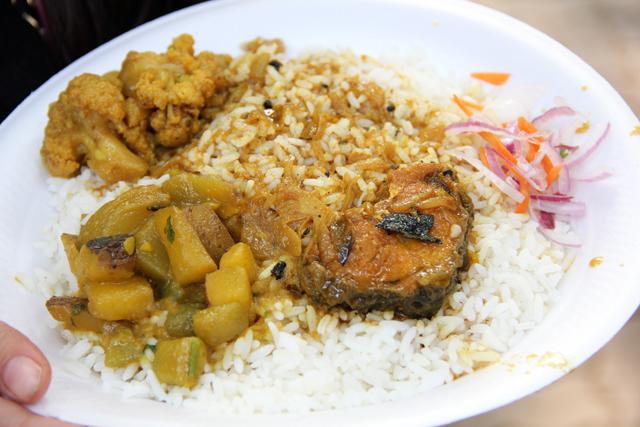 Camac street food in Kolkata, India