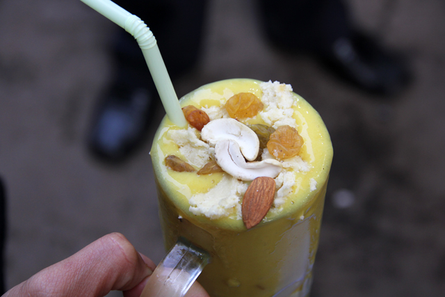 The ultimate mango lassi in Kolkata - perhaps the best mango smoothie in the world in my book.