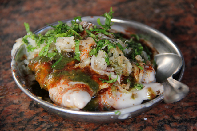 Palak Chaat at Kashi Chaat Bhandar