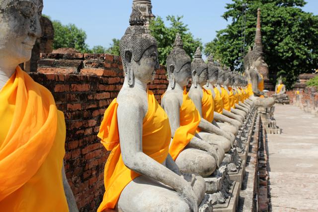 Spending the day touring Ayutthaya, Thailand