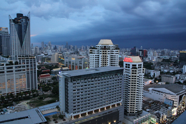 View of Siam and Pratunam, Bangkok, Thailand