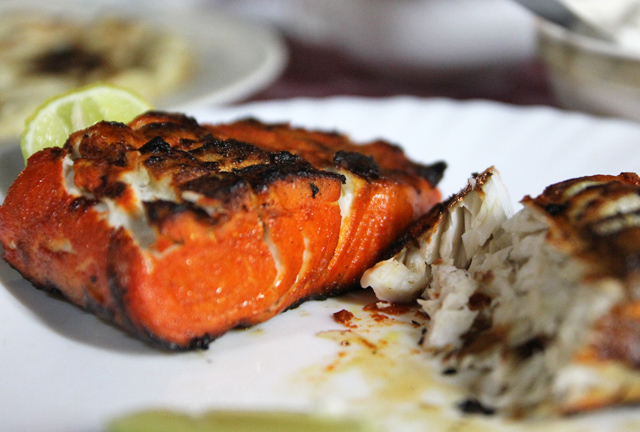 Fish barbecue at Barbecue House restaurant in Dar Es Salaam