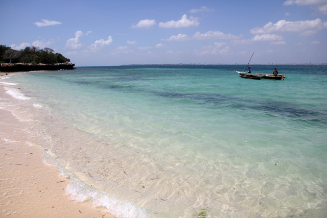 About to take a swim at Bongoyo Island, Dar Es Salaam, Tanzania
