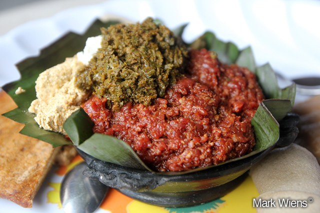Kitfo - raw beef with spices