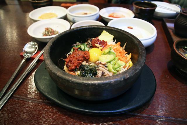 Dolsot bibimbap (돌솥 비빔밥) at Gogung Restaurant